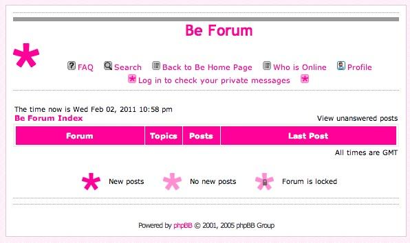Empty Be Forum